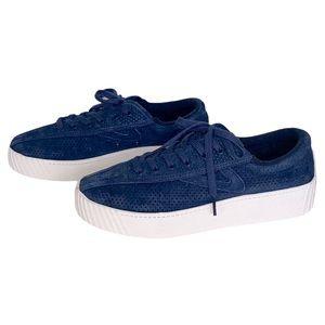 Tretorn Platform Suede Sneakers